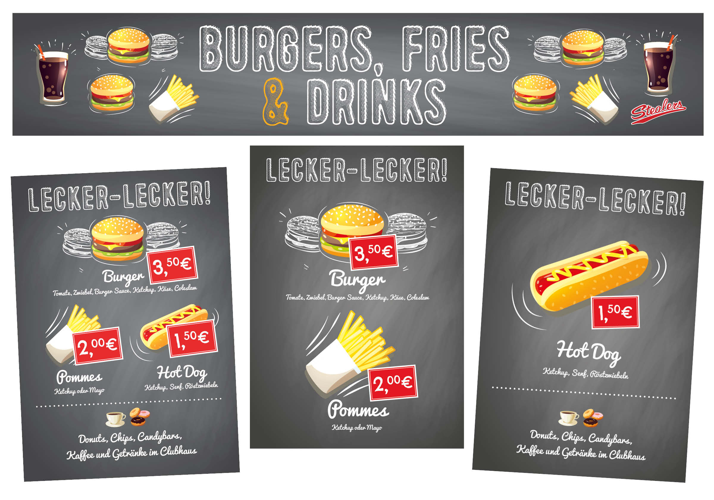 Stealers Catering Banners Posters